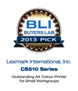 Buyers Lab (BLI), CS510 Series Pick Award 2013