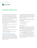 Lexmark Mobile Print Solutions