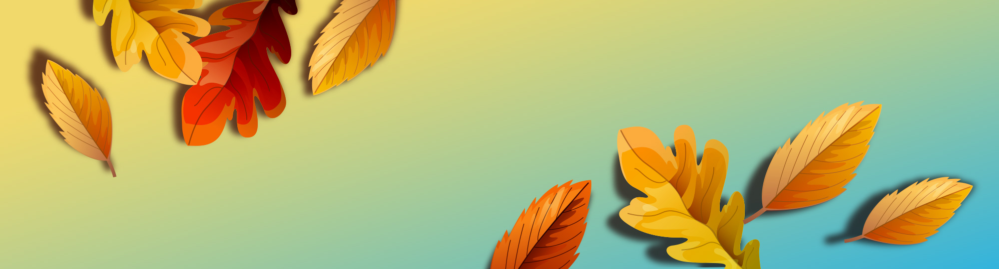 Fall promotion background