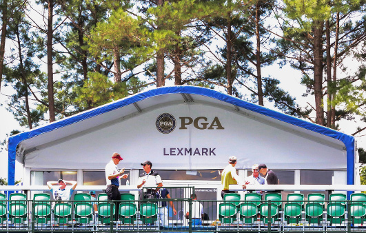 Lexmark tent at the PGA