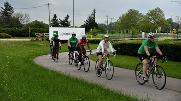 Bicyclists at Lexmark