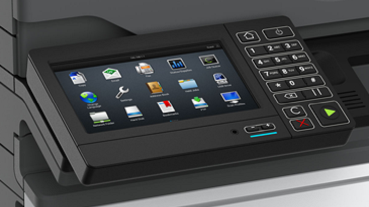 Printer touch screen