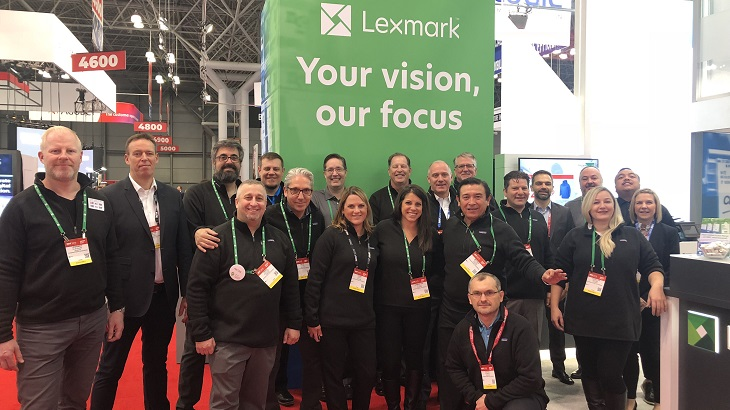 Lexmark employees at NRF