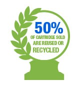 50 Cartridges sold are reused or recycled