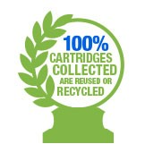 100% Cartridges Collected are reused or recycled