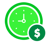 Clock icon to represent saving time