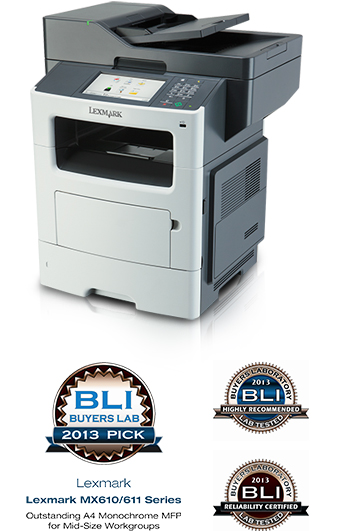 Lexmark MX610/611 wins 2013 Pick Award from BLI